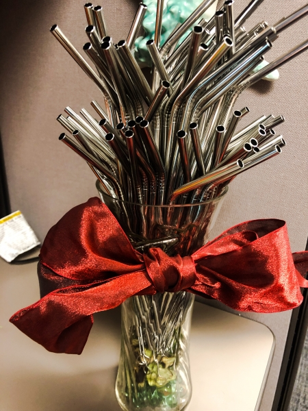A bouquet of straws.