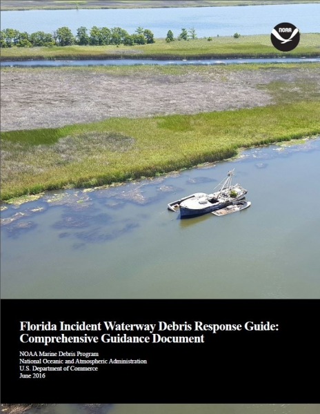"Cover of the ""Florida Incident Waterway Debris Response Guide"" document."