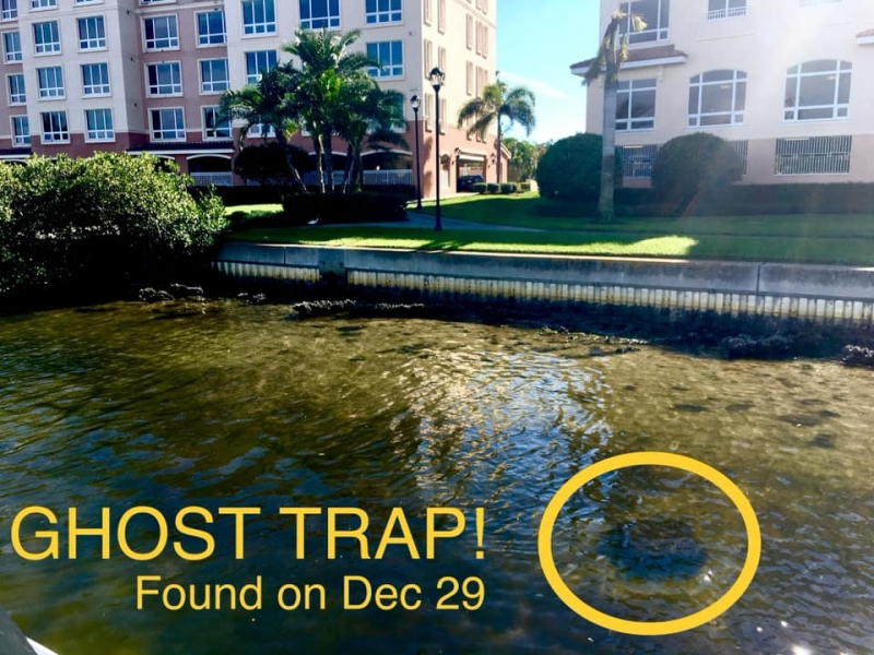 Ghost trap in the water.