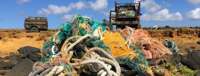 The Hawaii Wildlife Fund has already removed tons of derelict fishing gear, but there is still work to be done.