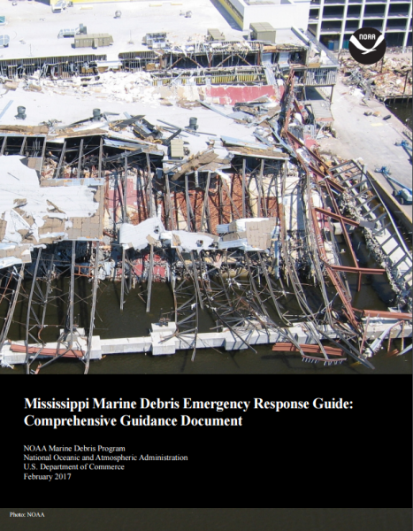 Cover of the Mississippi Marine Debris Emergency Response Guide.