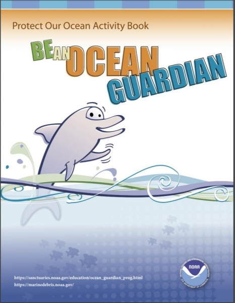 Cover of the Become and Ocean Guardian activity book.