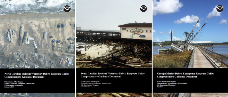 Covers of the SC, GA, and NC response guides.