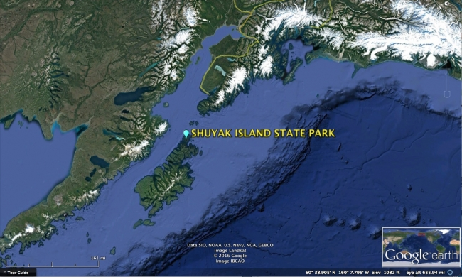 Map of Shuyak Island.