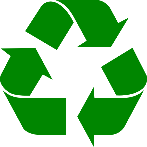 The recycling symbol.