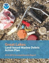 The cover of the 2014-2019 Great Lakes Marine Debris Action Plan Accomplishments Report.