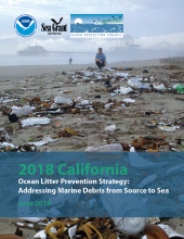 The cover of the California Ocean Litter Prevention Strategy.