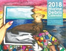 Cover of the 2018 Marine Debris Calendar.