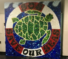 Bottle cap mural.