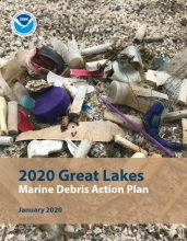 The cover of the 2020 Great Lakes Marine Debris Action Plan.