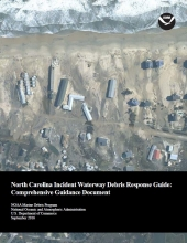 Cover of the North Carolina Incident Waterway Debris Response Guide.