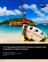 Cover of the U.S. Virgin Islands Marine Debris Emergency Response Guide: Comprehensive Guidance Document.