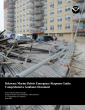 Cover of the Delaware Marine Debris Emergency Response Guide.