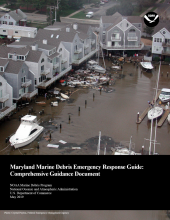 Cover of the Maryland Marine Debris Emergency Response Guide.