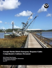 Cover of the Georgia Marine Debris Emergency Response Guide.