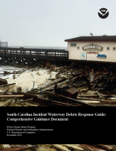 Cover of the South Carolina Incident Waterway Debris Response Guide.