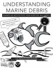 The cover of the U.S. Virgin Islands Edition of Understanding Marine Debris workbook.